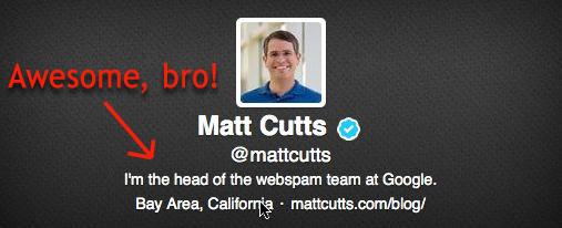 matt cutts twitter account