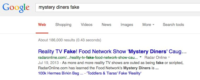 mystery diners is fake