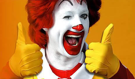 ronald mcdonalds thumbs up